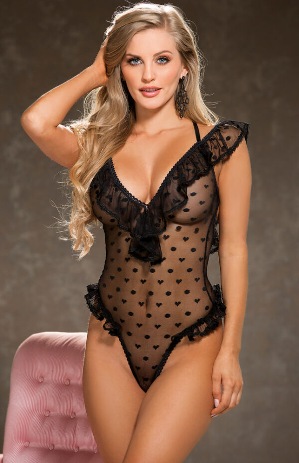 Black Sheer Teddy