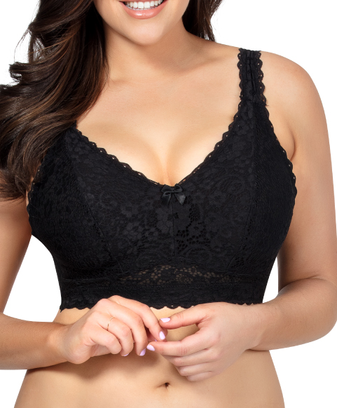 Plus Size Black Lace Bralette