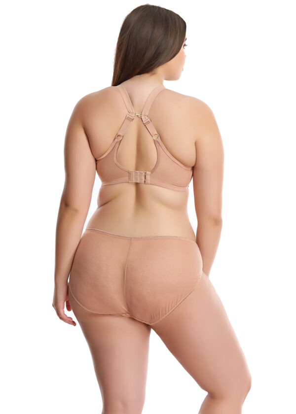 Sexy sheer plunge bra plus size