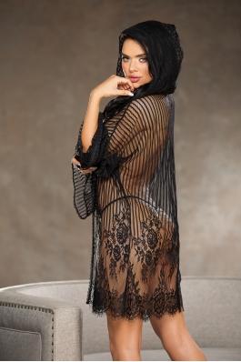 Sheer lace robe
