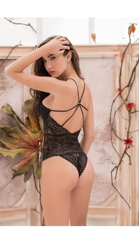 Strappy Black Lace Teddy