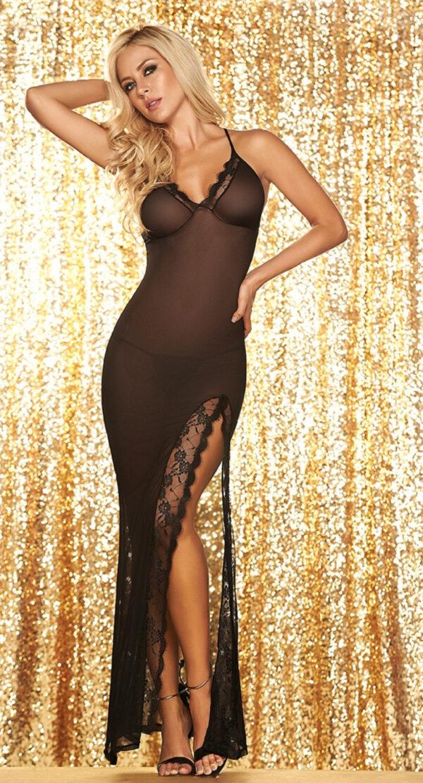 Long sheer nightgown