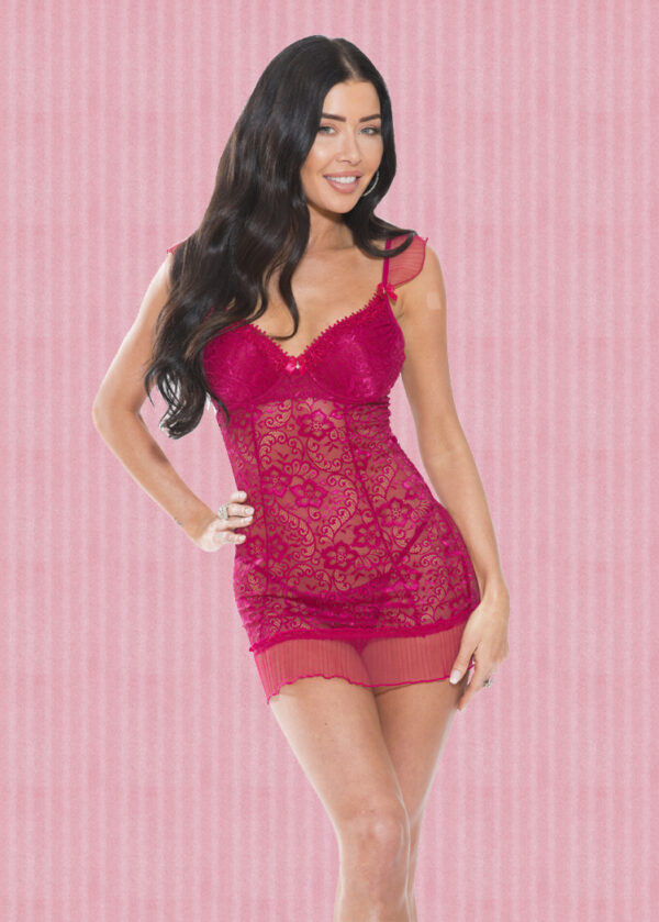 Red Lace Chemise