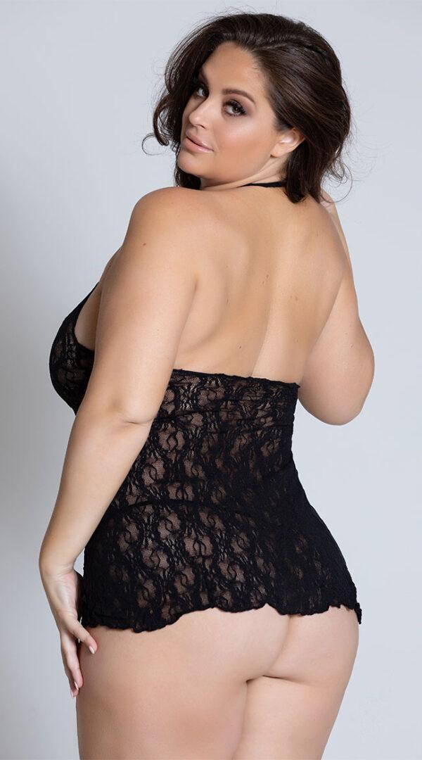 black lace chemise