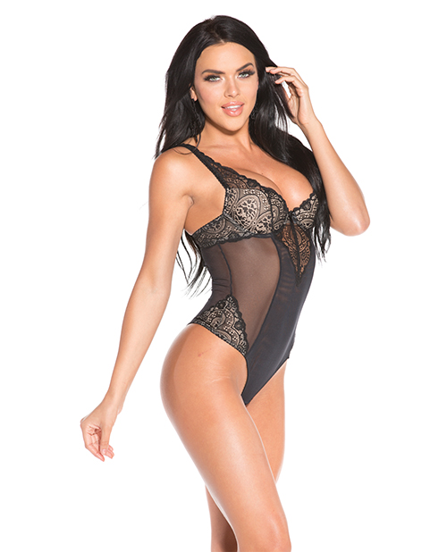 Sheer plus size teddy