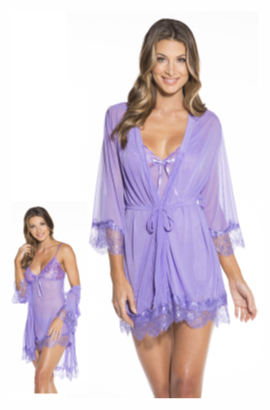 Chemise and Robe Set