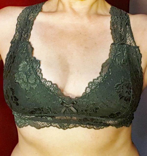 Olive Green Lacy Bralette