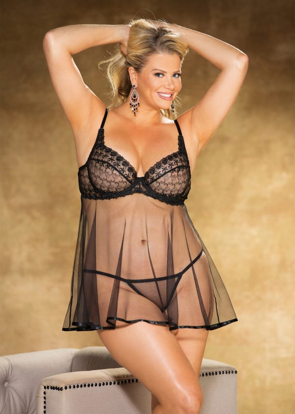See Through Plus Size Babydoll